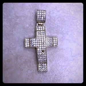 925 silver cross with gold finish